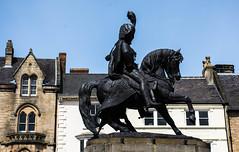 Durham (littlestschnauzer) Tags: durham statue horse horseback soldier city historic historical buildings centre old north east england uk 2016 regalia finery dress visit ne plinth artwork public