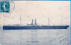 1908.06 - SALAZIE (MIKOS-35) Tags: les paquebots postes des messageries avaient une livre blanche lorsquils taient sur la ligne dextrmeorient sagon japon et coque noire autres lignes