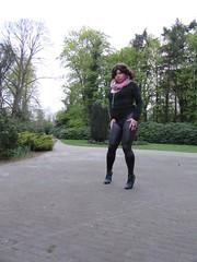 girl in the park (Barb78ara) Tags: highheels boots stilettoheels leggings blacktop wetlook highheelboots