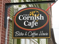 Oakland MD ~ The Cornish Cafe (karma (Karen)) Tags: oakland maryland mainstreet signs cafes restaurants bricks
