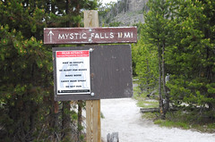 Where the Mystic Falls hike starts. And goes some number of miles from here. (V. C. Wald) Tags: yellowstonenationalpark uppergeyserbasin biscuitbasin mysticfalls mysticfallsoverlook