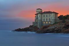 Notte Colorata / Colorful night (Livorno, Tuscany, Italy) (AndreaPucci) Tags: italy castle tuscany castello livorno calafuria boccale canoneos60 andreapucci