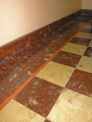 Asbestos Floor Tile & Cove Base (Asbestorama) Tags: vintage tile industrial floor inspection environmental retro safety flooring asphalt survey hygiene acm ih asbestos osha 9x9 neshap