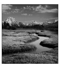 DUC # 830 - ANSEL ADAMS HOMAGE (mark_rutley) Tags: snow mountains composite clouds river nationalpark manipulation wyoming tetons anseladams downunderchallenge