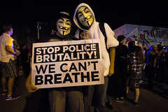 Stop Police Brutality We Can't Breathe (KenrickChiocca) Tags: light shadow history love beautiful night canon photography florida miami streetphotography handheld change masked capture anonymous policebrutality mikebrown beaware artbasel wynwood icantbreathe compostition 60d artmiami ericgarner trayvonmartin wecantbreathe