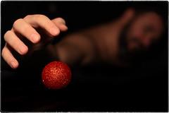 ... IMG_4946/a (*melkor*) Tags: christmas light red portrait selfportrait cold art self dark geotagged shadows dof hand experiment minimal conceptual merrychristmas graphicwork glassball melkor naturalcolours trashbit xmas2014