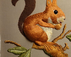 squirrel_18 (www.miriam-blaylock.com) Tags: squirrel stitch embroidery stitching stiches stumpwork needlepainting raisedembroidery longandshortstitch stumpworkembroidery