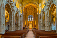 Sherborne Abbey Interior, Dorset (JackPeasePhotography) Tags: church abbey architecture bells nikon cathedral gothic dorset vaulting