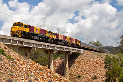 Another bridge to cross (PJ Reading) Tags: trip travel holiday cars last train coast long diesel north rail australia brisbane class coastal final journey farewell qld queensland pax locomotive passenger cairns distance region regional qr coaches finis