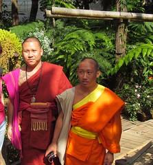Monks (ikor1) Tags: orange garden thailand monk