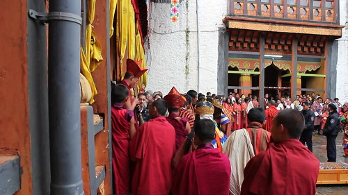 Jakar tshechu, the holy statue of the dzong