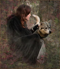 1 wolf girl (h.gadd) Tags: girl wolf child tombstone fantasy imagination engraved