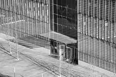 One World Observatory (E Rabeck) Tags: door city nyc urban bw newyork monochrome mono downtown manhattan worldtradecenter entrance wtc freedomtower
