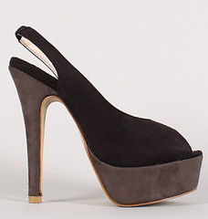 "faux suede colorblock slingback peep toe platform pump blk grey • <a style=""font-size:0.8em;"" href=""http://www.flickr.com/photos/64360322@N06/15729265932/"" target=""_blank"">View on Flickr</a>"