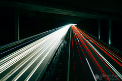 Night Highway (Olivier Rapin) Tags: light night pose highway long exposure suisse nacht lumire sony sigma autobahn file autoroute 1020mm berne nuit phare a77 longue