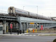 Amtrak Maple Leaf crossing Whirlpool Bridge (Sean_Marshall) Tags: bridge newyork ontario canada train niagarafalls unitedstates amtrak mapleleaf amfleet