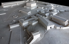 Model of the Athenian Agora in the Agora Museum showing the 2nd century C.E.