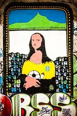 Da Vinci's Delirium (Mateus Carvalho |) Tags: city brazil urban colors brasil riodejaneiro cores graffiti nikond70 soccer monalisa rua tamron futebol arteurbana worldcup2014 matuscarvalho