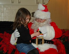 Santa Giving out Gifts