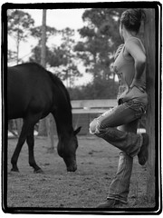 A girl & her horse (Boatwitch) Tags: horse girl barn pasture stable thoroughbred