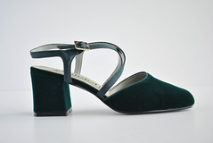 Vintage Velvet Green Heels - Unlisted - Kenneth Cole Production (DarlingTimes) Tags: ladies green vintage dark cole low mary velvet womens retro heels production 1960s etsy emerald straps kenneth chunky janes unlisted