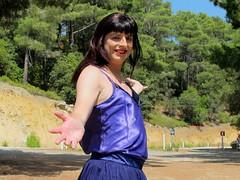 Beautiful Cyprus (Paula Satijn) Tags: sun sexy girl shiny purple silk cyprus skirt tgirl tranny transvestite satin miniskirt gurl sunhine