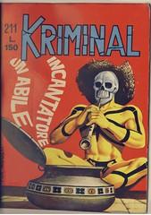 Kriminal 211 (uomoragnolegato) Tags: noir bunker horror magnus ladro copertina thriller fumetto kriminal assassinomascherato redeldelitto