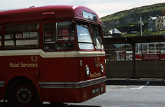 IOM Road Sers No.53 (close-up) at Douglas Bus Stn. Jun'71. (David Christie 14) Tags: olympic iomroadsers