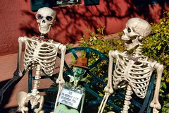 George and Friends (EmperorNorton47) Tags: autumn arizona fall statue digital skeleton photo afternoon sedona publicart