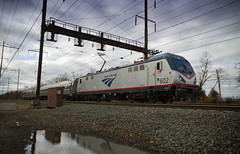 Amtrak Special Train with American View (Camera-junkie) Tags: railroad canon photography diesel traintracks tracks photojournalism rail trains amtrak transportation locomotive locomotives nec njtransit digitalphotography northeastcorridor railtransportation diesellocomotive electriclocomotive diesellocomotives railroadphotography edisonstation trainsphotography p42dc trainphotography onlinephotography canoneos7d amtraklocomotive acs64 amtrakcitiessprinter