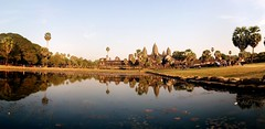 sunset in Angkor Wat