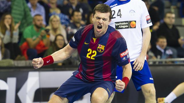 !Francisco Javier Fernandez¡. @FCBHandbol - @NaturhouseRioja :Partido de Champions en la Copa Asobal