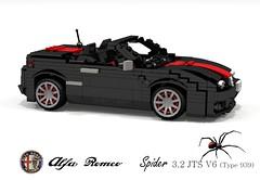Alfa Romeo Typ-939 Spider (Redback) (lego911) Tags: auto two italy black car spider model italian lego render convertible 2006 western type alfa romeo widow 32 tale challenge rivals outlaws 87 cad lugnuts jts v6 povray brera redback 2000s moc typ ldd miniland 939 foitsop lego911 ataleoftworivals