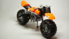 The Ultimate Sand Bike (hajdekr) Tags: terrain motion beach bike honda monkey model sand cross suspension ultimate fat dune wheels engine motorbike dirt creation technic motorcycle motor suzuki motocross invention moc vanvan shockabsorber myowncreation legointerest