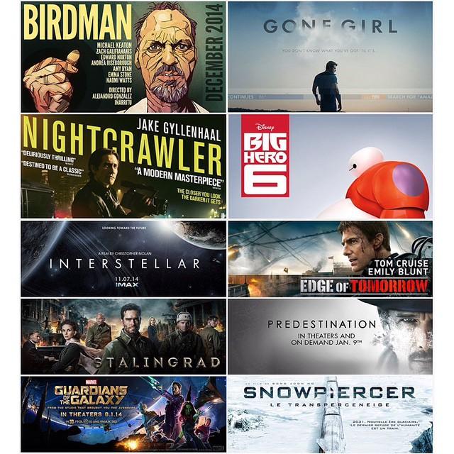 My #top #10 #movies of #2014 10 de las películas en inglés que no puedes perderte #BIRDMAN #MichaelKeaton #GONEGIRL #NIGHTCRAWLER #BIGHERO6 #INTERSTELLAR #EDGEOFTOMORROW #TOMCRUISE #STALINGRAD #PREDESTINATION #ETHANHAWKE #GUARDIANSOFTHEGALAXY #MARVEL #SNO