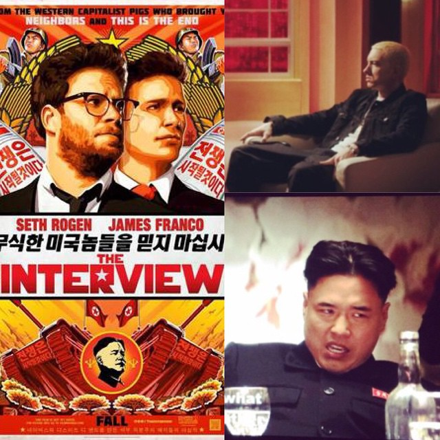 Watching #TheInterview on #ChristmasDay , well because this is AMERICA!! 😏😂 Haha Apparently they interview @eminem & hes GAY!! Lmaooo #interview #eminemIsGay #haha#KimJongUn