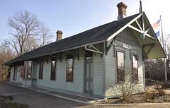 Knox, Indiana (3 of 5) (Bob McGilvray Jr.) Tags: railroad green tower station train gate tracks indiana knox restored depot passenger 1882 nkp newyorkchicagoandstlouisrailroad
