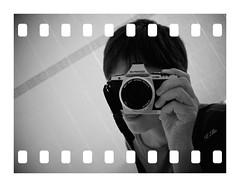 Faceless Self Portrait 2/ 52 (keikoellis) Tags: bw selfportrait olympus faceless borderfx