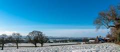 Brockhampton view towards ross with a little snow (IanbPhoto) Tags: snow ross with view little jan sony small sigma towards brockhampton spattering 2015 a700 18250
