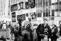 Protest :: NYC (David_____G) Tags: nyc blackandwhite newyork protest streetphotography fujifilm x100s