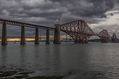 Stormy Forth Bridge (Colin Myers Photography) Tags: bridge sunset storm colin clouds photography edinburgh moody south rail railway stormy forth firth myers forthbridge queensferry southqueensferry forthrailbridge moodyclouds colinmyersphotography wwwcolinmyerscom