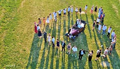 Say love with your heart (Ookpik Photo Video Drone) Tags: family famille wedding party people france love car logo rouge dance friend dress heart robe coeur vert voiture amour vin fte mariage amis vignoble blanc herbe domaine drone humain marie ceremonie honneur