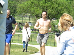 IMG_0090 (FOTOSinDC) Tags: shirtless man hot men muscle candid handsome sweaty sweat runners shorts runner joggers jogger