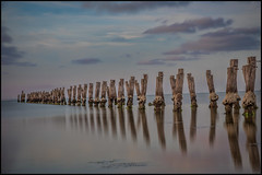 That Old Jetty (BlueberryAsh) Tags: longexposure sunset sea beach clouds australia oldjetty geelong oceanwater oldpier cliftonsprings