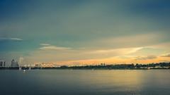 Soft sunset (elenaleong) Tags: sunset singapore benjaminshearesbridge marinabarrage tgrhu marinareservoir
