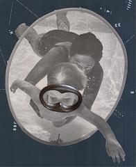 June 7th los dias contados (kurberry) Tags: collage swimming underwater facemask vintageephemera collageaday losdiascontados