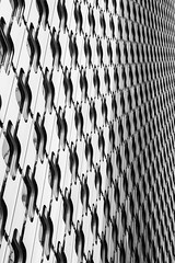 Abstract La Dfense (mariefrance2010) Tags: bw abstract paris building lines architecture modern squares geometry oblique ladfense