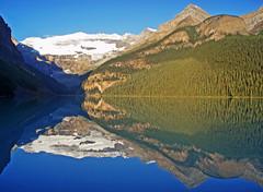 Lake Louise (jamiegaquinn) Tags: trees lake canada mountains reflection tree forest reflections britishcolumbia columbia louise alberta british lakelouise