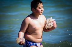 jellyfish fisher (Angelo Petrozza) Tags: sea beach pentax basilicata fisher medusa cina pescatore metaponto jellyfishe 55300f458