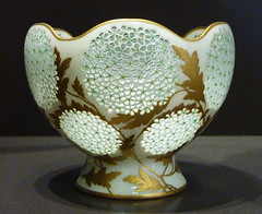 Art Nouveau era cup with flowers and gold leaves - Camille Naudot, 1903 (Monceau) Tags: flowers macro cup gold artnouveau translucent delicate musedorsay glows 141366